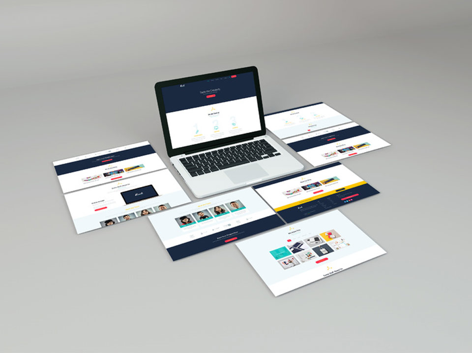 Sample work of corporate responsive website development